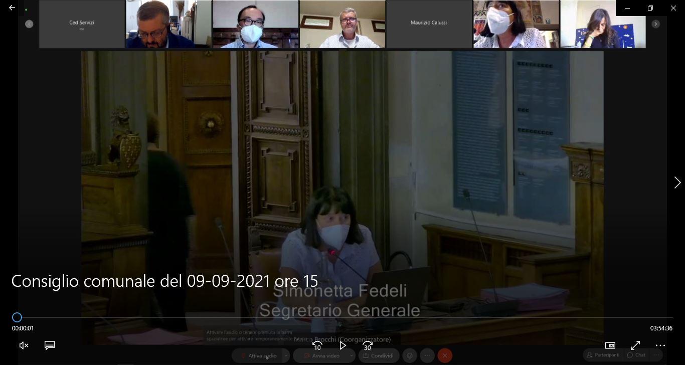 Consiglio Comunale del 09/09/2021 ore 15:00