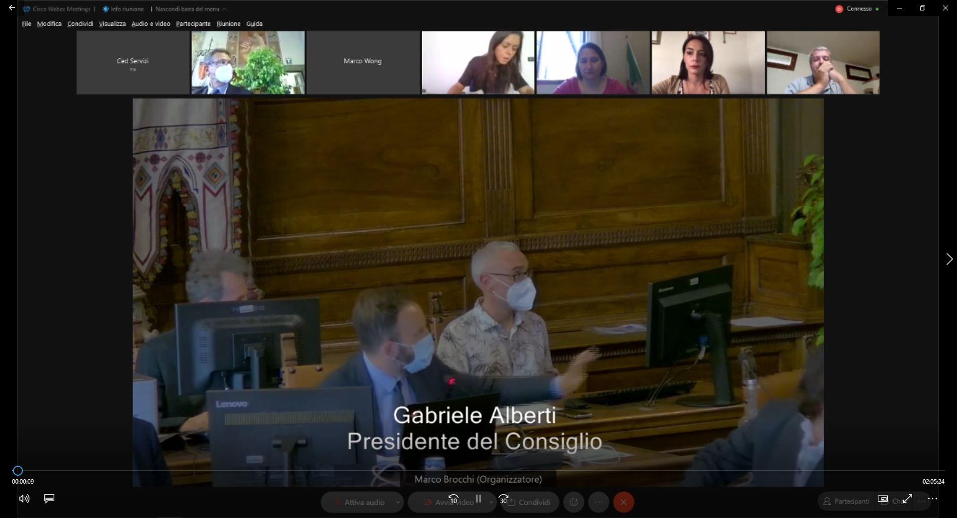 Seduta straordinaria e aperta del Consiglio Comunale del 16/09/2021 ore 16:00
