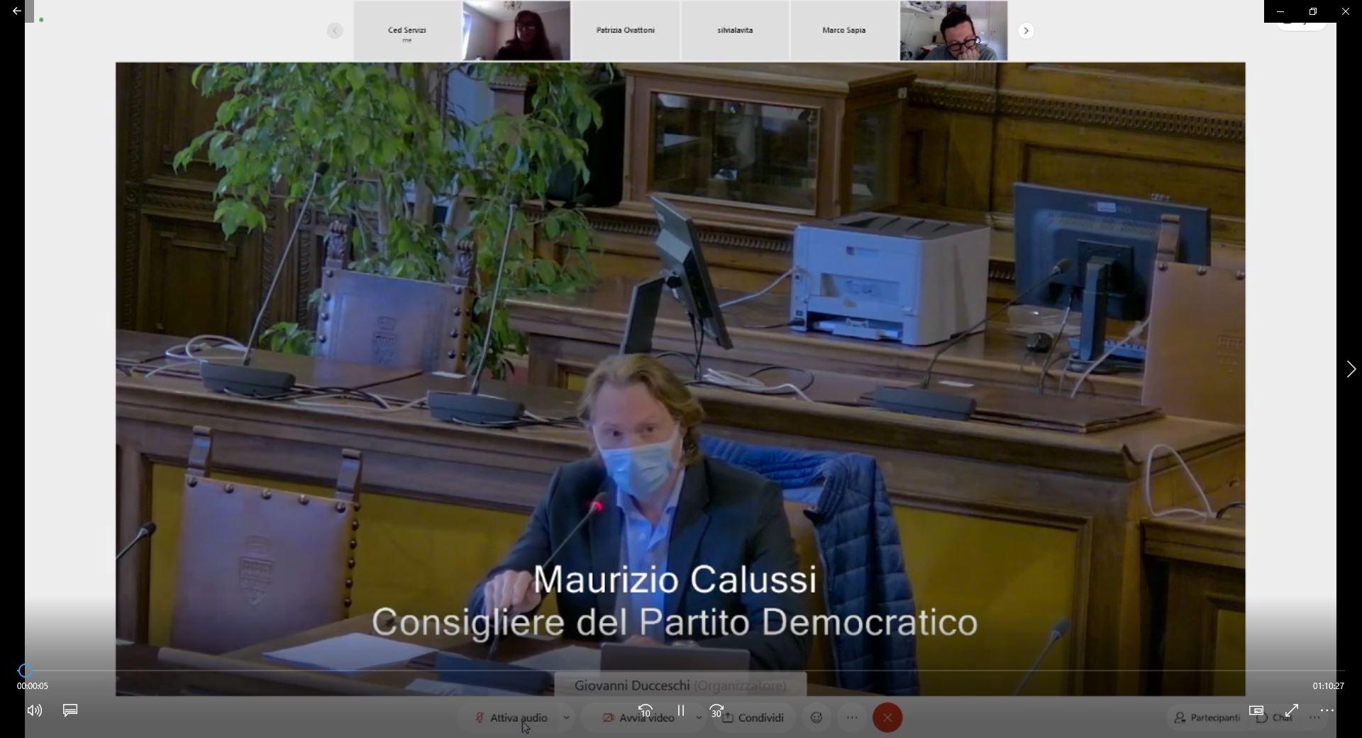 Commissione consiliare n. 4 + 5 congiunte del 25/05/2021 ore 12:00